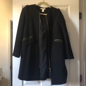 Black coat w/ gold details